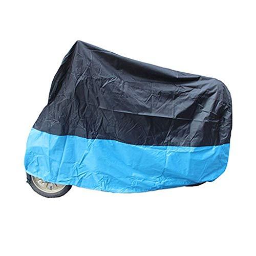DealMux cubierta de lona para motocicleta cubierta de motocicleta a prueba de invierno cubierta de scooter de movilidad cubiertas de motocicleta para almacenamiento al aire libre negro azul, L