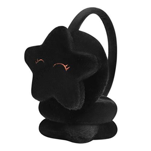 Ohrenschützer Warm Verdickung Ohrenwärmer Plüsch Weich Earmuffs mit Fünfeckig Stern Ohrenschutz Verstellbar Ausziehbar Outdoors Ohrenklappen Kinder Niedlich Earbandfür Radfahren Schule Laufen Reisen