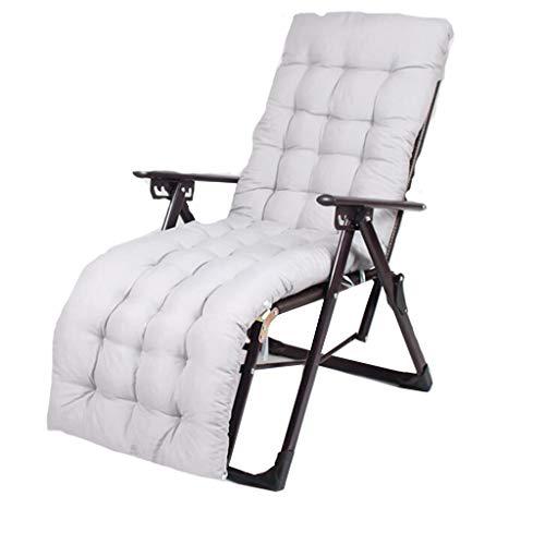 Pliable Portable Recliner en Plein Air Plage Chaise Bureau Nap Lit Retour Rotin Chaise Amis Rassemblement Peut Porter 200kg (avec Blanc Long Mat)