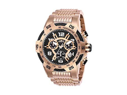 Invicta Men's 25287 Speedway Quartz Multifunction Rose Gold Black Dial Watch