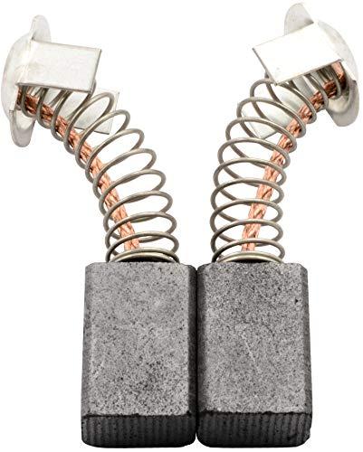 Escobillas de carbón Buildalot Specialty ca-07-97701 para Hitachi Martillo H 45MR - 7x11x17 mm - Con resorte, cable y conector - Reemplaza partes 981612Z, 999043 & 999073