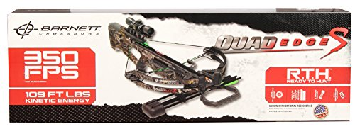 BARNETT Quad Edge 350 FPS Crossbow Package, Camo