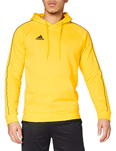adidas CORE18 Hoody Sweat, Mens, Yellow, M