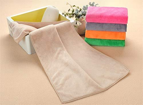 Tivivose 16 Colores de Microfibra Tela de Toalla Toalla Seca de Pelo Salones de Belleza peluquería Especial Mayor súper absorbentes Cara Toallas de Mano Toallas