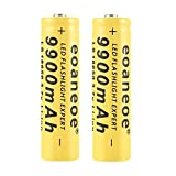 Best 18650 Battery Button Tops - 18650 Battery 3.7V 9900Mah Rechargeable Li-ion Battery High Review