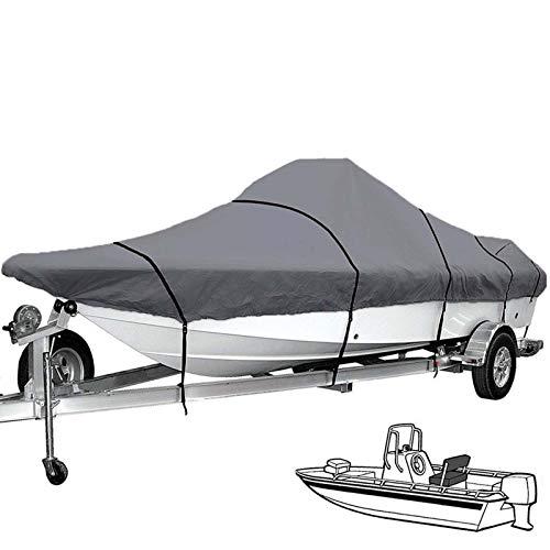 Massage-AED Funda para Barco Impermeable,11-24Ft 210D Heavy Duty Trailerable Grey Barco Barco Cubierta Pesca Esquí Impermeable Anti-UV A Prueba De Sol Lona Protectora para Barcos Marinos