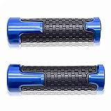 7/8' 22mm Puños Acoples de Manillar Agarraderas para GSF 250 400 600 650 1200 1250 1250S Bandit Azul