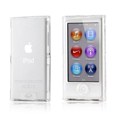 Rundum-Schutzhülle für Apple iPod Nano 7G / iPod 7G, Vorderseite + Rückseite, mit Displayschutzfolie + Reinigungstuch, transparent