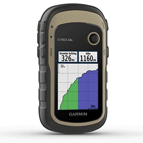 """Garmin eTrex 32x-robustes, wasserdichtes GPS-Outdoor-Navi mit 2,2"""" (5,6 cm) Farbdisplay mit Tastenbedienung, Barometer, Kompass, ANT+, vorinstallierter TopoActive-Europakarte und 25 Std Akkulaufzeit"""