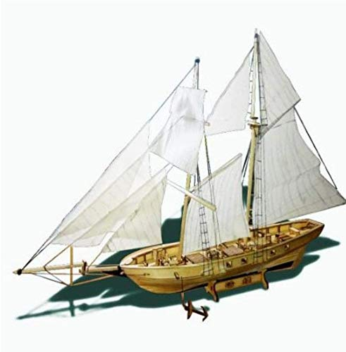 RUXMY Decoración Modelo de velero DIY Kits de construcción de ensamblaje Modelo de Barco Velero de Madera Juguetes Modelo de Vela Kit de Madera ensamblado