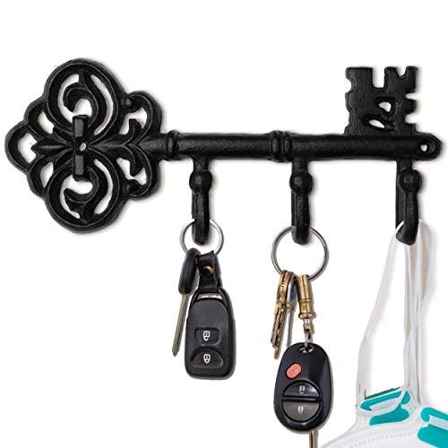 Antique Black Cast Iron Wall Key Holder