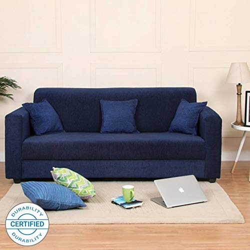 Westido Homes Brisbane Fabric 3 Seater Sofa (Finish Color - Blue)
