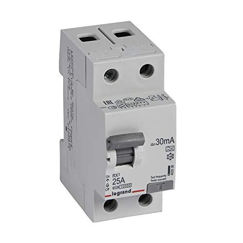 Legrand by Grenda-hammer - Distribuidor diferencial FILS (interruptor diferencial, 25 A, 30 mA, 1+N)
