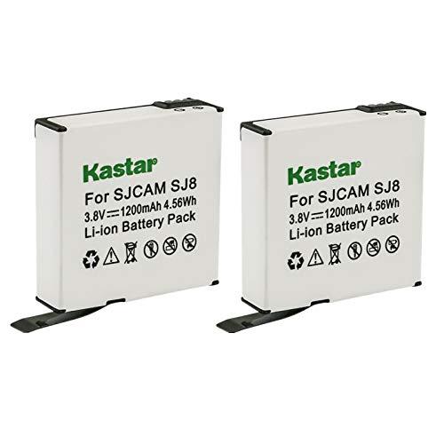 Kastar 2-Pack SJ8 Battery Replacement for SJCAM SJ8 Star, SJCAM SJ8B Battery, SJCAM SJ8 Star Sport Camera, SJCAM SJ8 Star 4K Ultra HD Action Camera