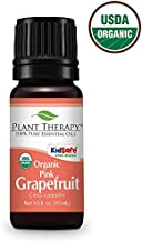 Plant Therapy Grapefruit Pink Organic Essential Oil 10 mL (1/3 oz) 100% Pure, Undiluted, Therapeutic Grade