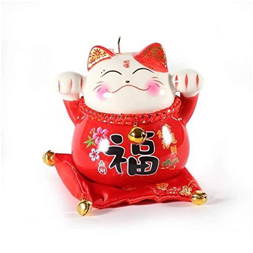 Pequeña Tirador de Gato japonés Maneki Neko – Felicidad, Suerte, protección