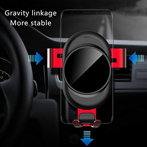 Taurusb Auto-Telefon-Halter - Universal Gravity Linkage Auto-Telefon-Einfassung Für iPhone, Galaxy, Sony, Lenovo, HTC, Huawei Und Andere Smartphones,Rot - 3