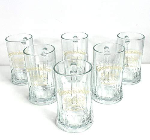6 x Grevensteiner 0,5l Glas/Gläser, Seidel, Markenglas, Bierglas NEU