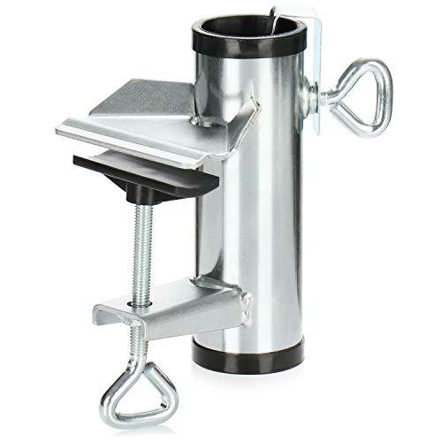 com-four® Sonnenschirmhalter aus Metall - Schirmständer für Balkon, Terrasse oder Tisch - Balkon-Schirmhalter XL (Ø 25-38mm - 01 Stück)