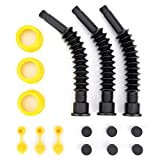 Gas Can Spout Kit, Super Long Very Flexible Universal Spout with Tons of Accessories. (3 Long)