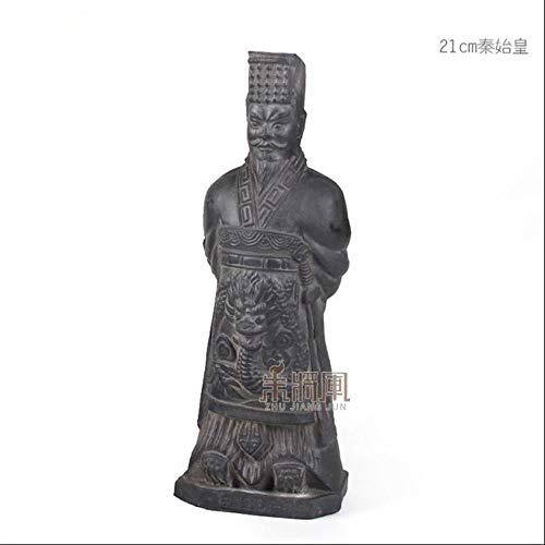Skulptur Figur Dekoration 29 cm Terrakotta Armee Krieger Ornament Keramik Figur Handwerk Wohnkultur Qin Dynastie Soldat Modell Skulptur Chinesischen Stil Geschenk, 21 cm Qin Shihuang