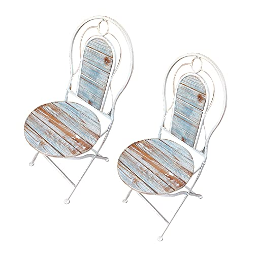 CSQ Table et chaise Courtyard Combinaison à trois pièces Le Tiantai Balcon Bar Café Boutique Jardin Pliable | 1 table et 2 chaises Table de thé (taille : Two stools)