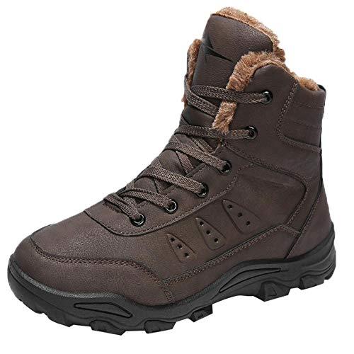 NINGSANJIN Winterschuhe Herren Mini Classic Hohe Sneakers (Brown,42)