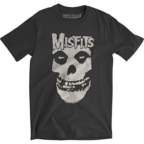 Misfits Hombre Distressed Skull Carbón De Slim Fit–Camiseta para hombre
