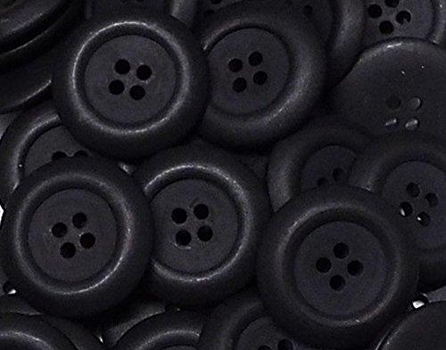 5 Mantelknöpfe 30 mm schwarz