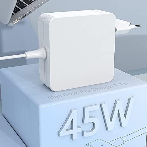 Compatibile con 45W Caricatore mac book Air alimentatore adattatore 2 T-Tip Adattatore di con connettore, Mac caricabatterie per Mac Book Air da 11 pollici e 13 pollici (dopo metà 2012)