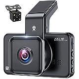 LPWCAWL Dual Dashcam, HD 1296P Vorne und 720P Hinten Autokamera mit 3 Zoll Bildschirm, Nachtsicht, 170° Weitwinkel, ADAS, Loop-Aufzeichnung, G-Sensor, Parkmonitor, 32GB SD Karte