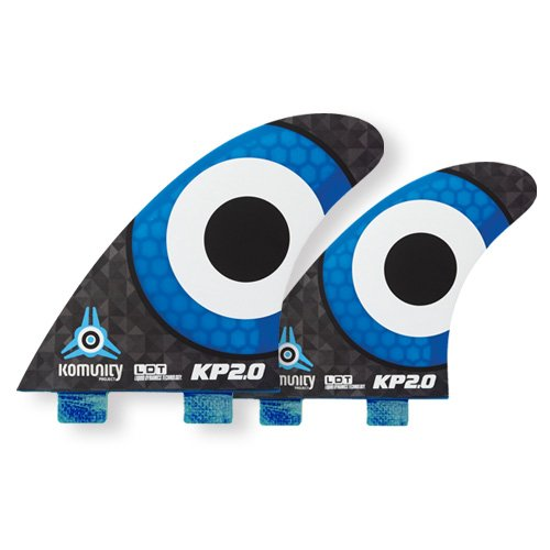 KOMUNITY PROJECT(コミュニティー) KELLY SLATER ケリースレーター KP2.0 FCS 4fin エフシーエス 4本セット BLUE