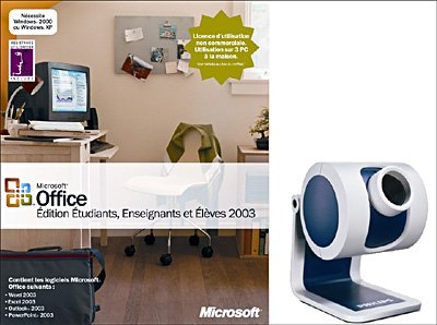 Office etudiant 2003 + webcam 1 euro