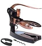 YSYPET Wine Opener Kit Luxury Wine Bottle Sacacorchos Set Easy Cork Screw Remover (Bronce)