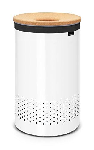 Brabantia 104404 Wäschebox 60 L Korkdeckel, weiß