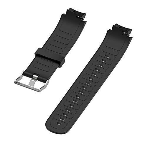 Pulseira de silicone Preta Adulto Para Relógio Xiaomi Huami Amazfit Verge Lite + pinos