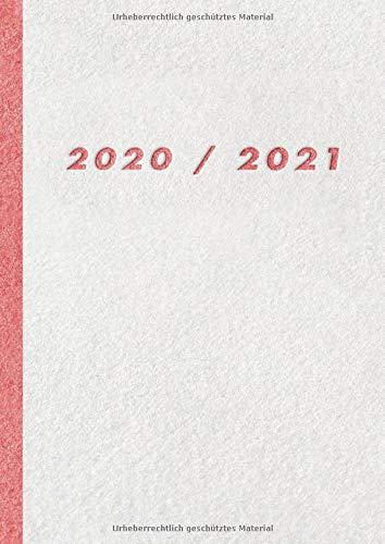 Tageskalender 2020 2021 A4: XXL Buchkalender 2020/2021 - 2 Seiten = 1 Tag - 21x29,7 cm - von Juli 2020 bis Juni 2021 - mit Wochentag und Datum
