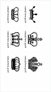 Tijdelijke Tatoeages 3 Vellen Waterdichte Tijdelijke Tattoo Sticker Zwart Engels Letters Sterren Veren Golven Mannen En Vr...
