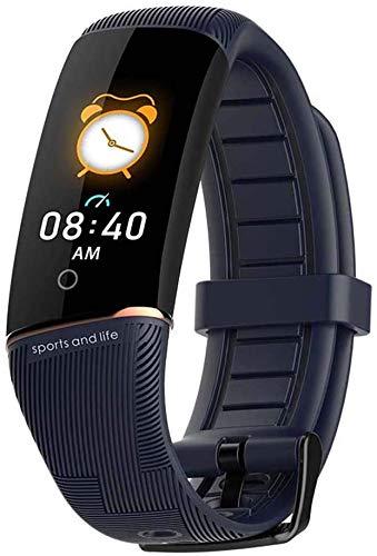 QIANXIAN Fitness Tracker mit Pulsmesser Blutdruck-Test Blut-Sauerstoffüberwachung, Aktivität Verfolger-Uhr-IP67 Wasserdichten Schlafmonitor Schritt Kalorienzähler,Blau