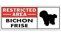 RESTRICTED -AREA- BICHON FRISE ワイドマグネットサイン:ビションフリーゼ Sサイズ