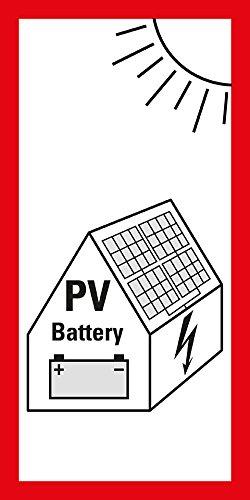 LEMAX® Hinweisschild Photovoltaikanlage mit Batteriespeicher,VDE-AR,Folie,200x100mm