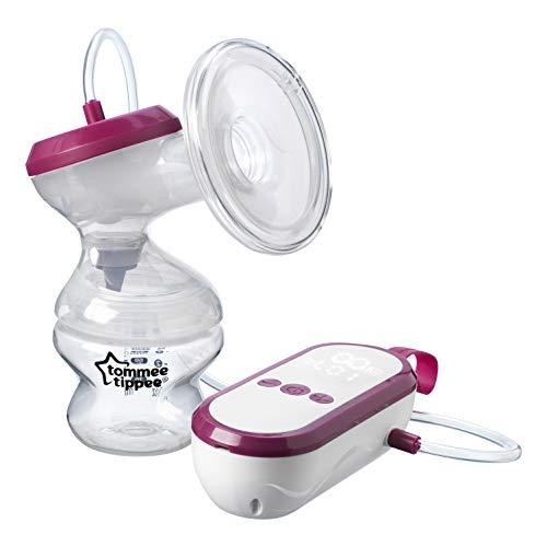 Tommee Tippee Pompa elektryczna, bardzo cicha ładowana przez USB i przenośna jednostka z trybami masażu i ekspresowym