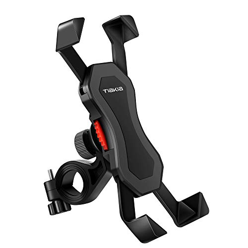 Smart Phone Holder for Bicycles/Motorcycles, Protection Against Shaking/Dropping, GPS Navigation, Cell Phone Mounting Stand, Waterproof, Supports Multiple Phone Models (iPhone7/8/X, Xperia, Huawei, Android), Adjustable Angle, 360 ° Rotation, Easy Installation/Removal, Sturdy Protection, Black