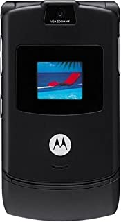 Motorola RAZR V3 Unlocked Phone with Camera, and Video Player-International Version with No Warranty (Black)