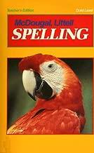 McDougal Littell Spelling Teacher's Edition Gold Level