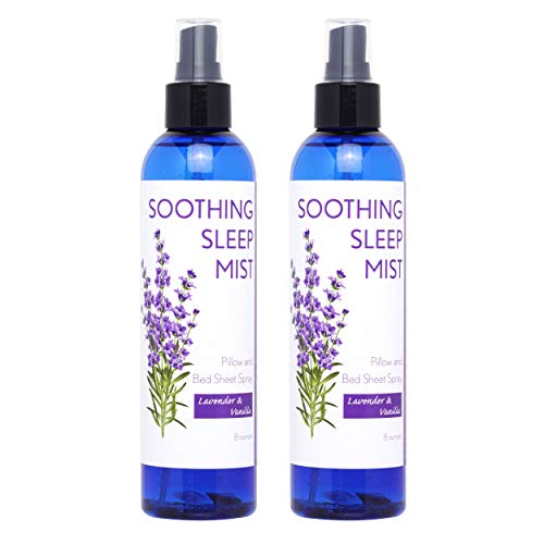 Sleep Spray for Calming Sleep. Relaxing Lavender Pillow Spray. All Natural Sleep Aid. Aromatic Mist to Promote Deep Sleep and Stop Snoring. 2X Large Bottles. (Lavender & Vanilla)
