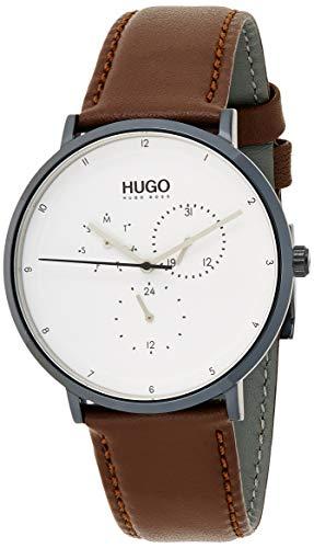 HUGO Reloj Multiesfera para Hombre de Cuarzo con Correa en Cuero 1530008