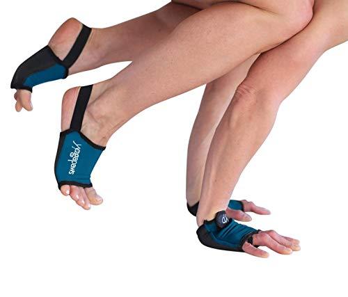 YogaPaws Elite Padded Non Slip Yoga Gloves and Yoga Socks for Women and Men