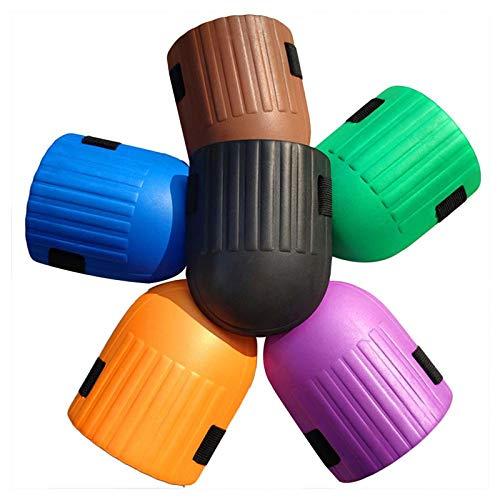 ガーデニング膝パッド、19*15cm、調節可能、EVAフォーム、プロ仕様の防水ソフトフォームクッション調節可能なストラップ(2PSC)