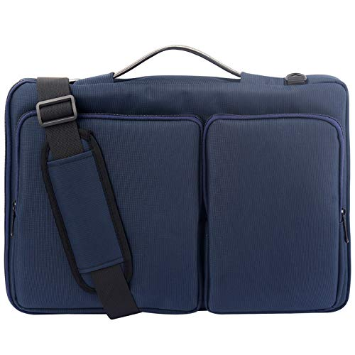 Lanola Laptop Sleeve Bag with Notebook Computer,Vertical Protective Case blue Size: 15.6 Inch Laptop